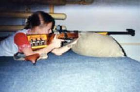Shooting from a rifle