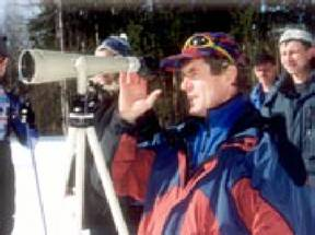 The deserved trainer of russia the master of sports on ski races and biathlon