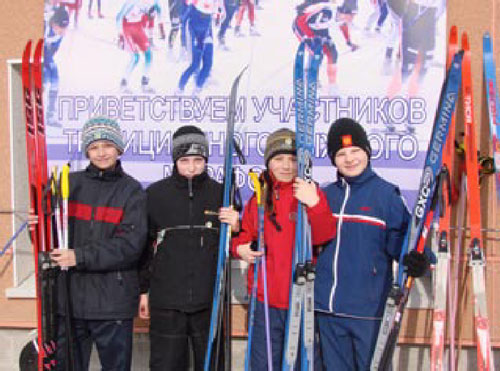 Foto young skiers